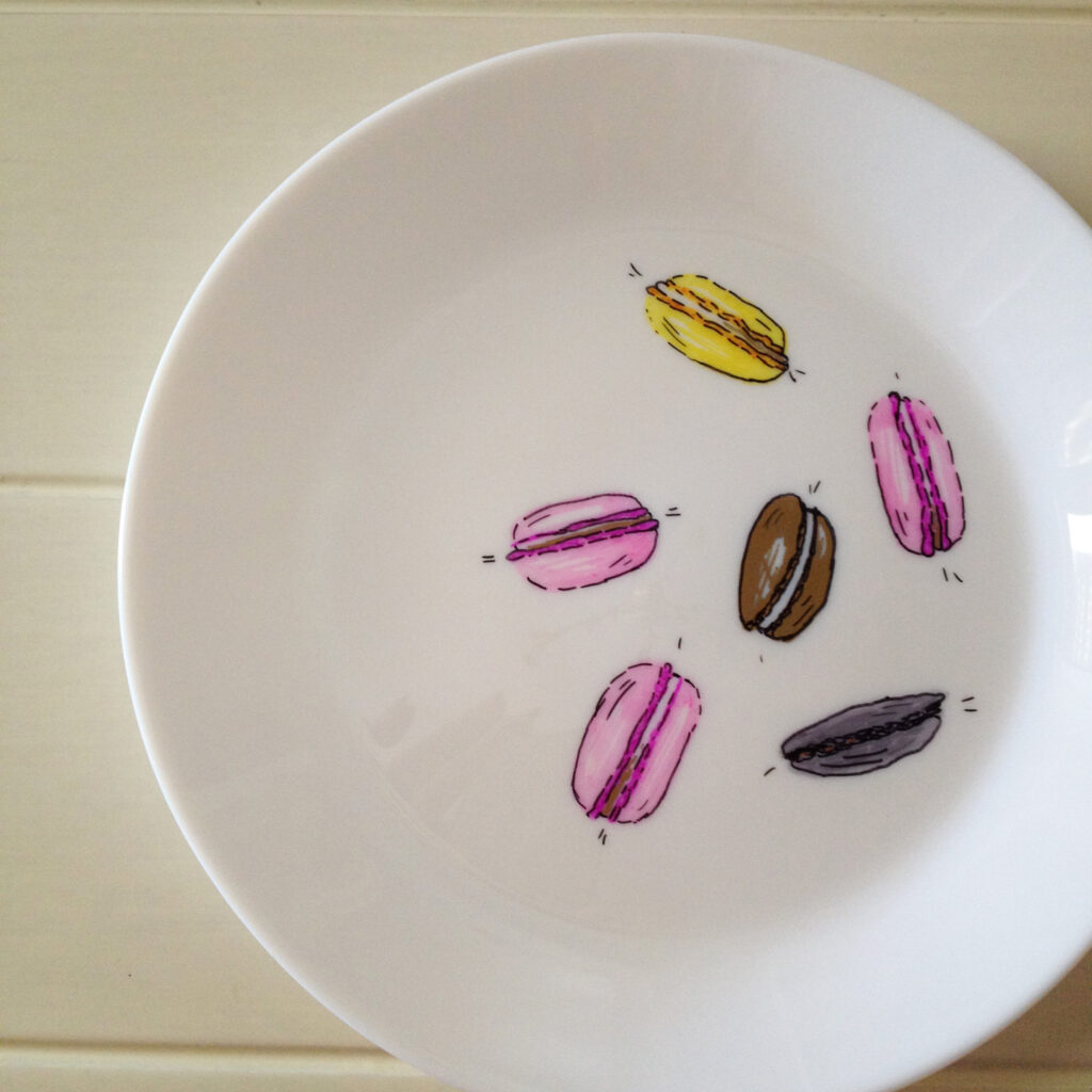 Εύκολη διακόσμηση πιάτων με μαρκαδοράκια