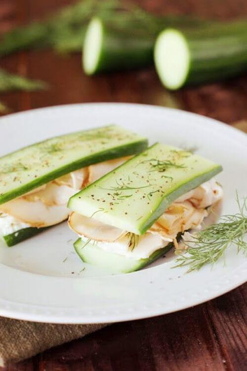 σάντουιτς για τον γιορτινό μπουφέ - αγγούρι