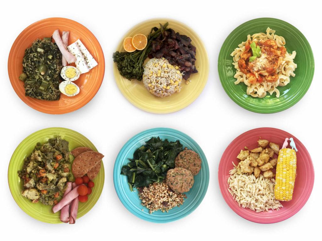 Εβδομαδιαίο πρόγραμμα φαγητού πιάτα