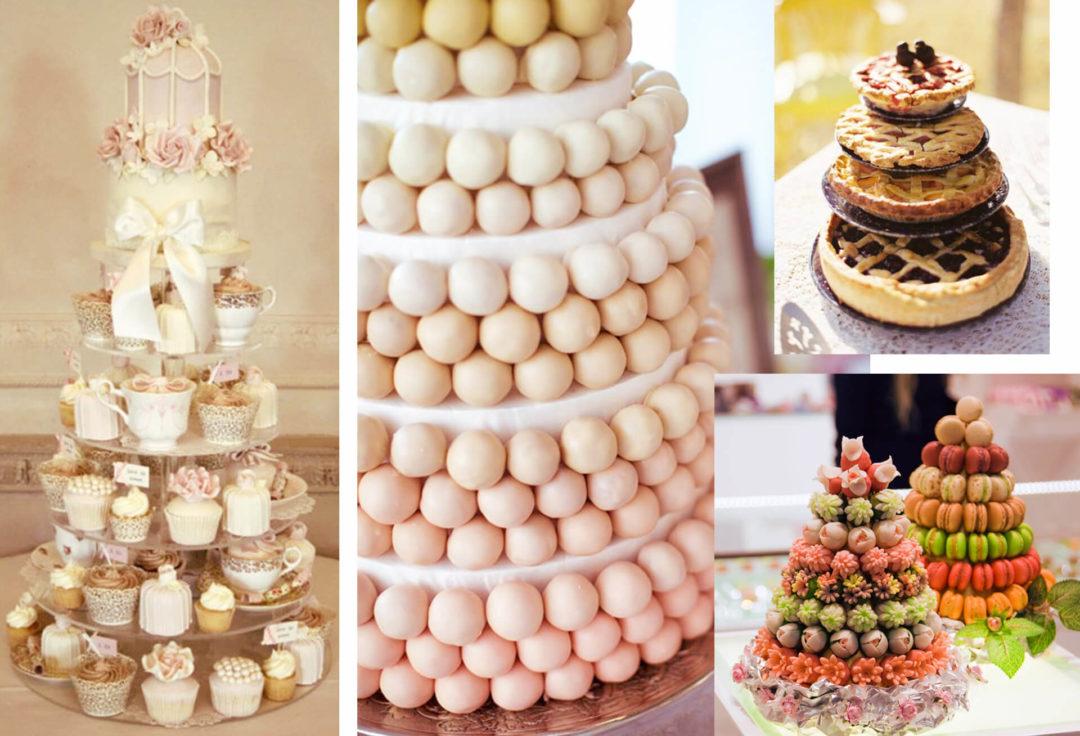 γαμήλιες τούρτες κολαζ