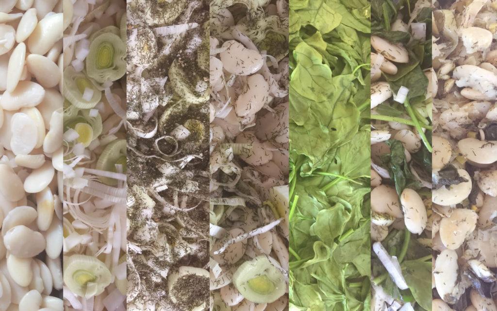 Φασόλια γίγαντες με σπανάκι στο φούρνο