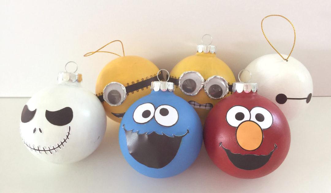 Χριστουγεννιάτικες μπάλες με χαρακτήρα