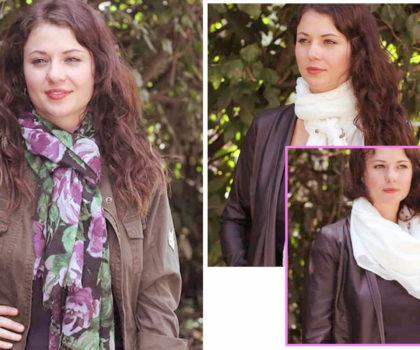 4 διαφορετικοί τρόποι να φορέσεις το κασκόλ ή το φουλάρι σου