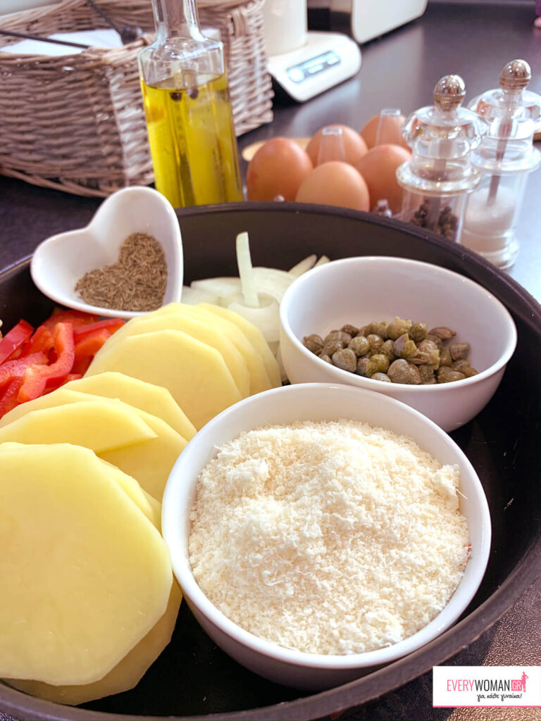 Ισπανική ομελέτα φούρνου (υλικά)
