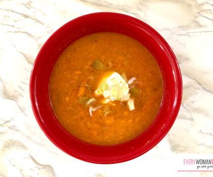 Βελούδινη σούπα με γλυκοπατάτα