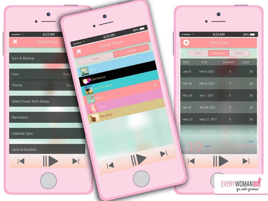 Πρόταση Application: P Tracker – μια εφαρμογή μόνο για γυναίκες