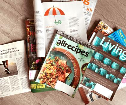 5 έξυπνοι τρόποι για να αξιοποιήσουμε τα παλιά μας περιοδικά