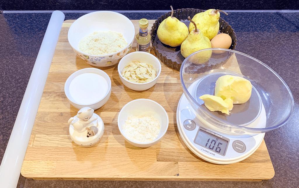Φθινοπωρινή τάρτα με αχλάδι